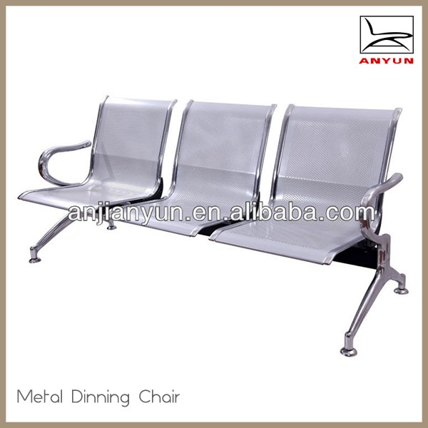 3-seater waiting room chair used hospital