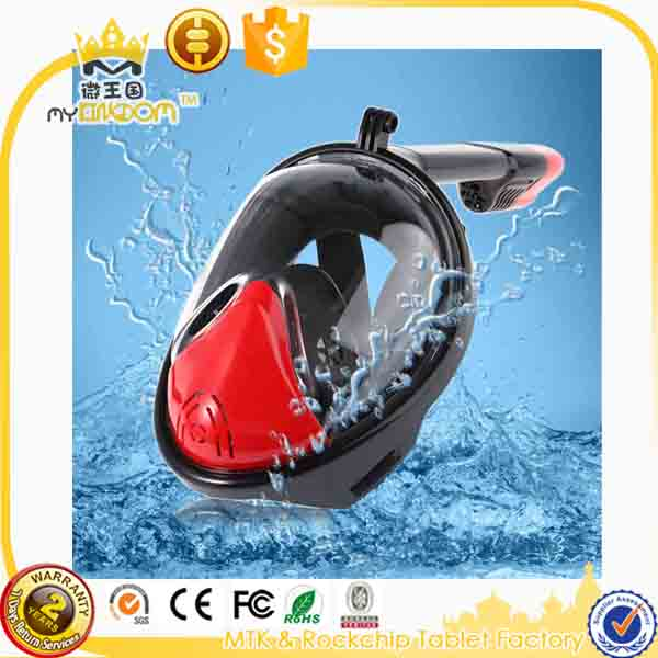 Snorkeling full face diving mask swim mask 180 degree snorkel mask