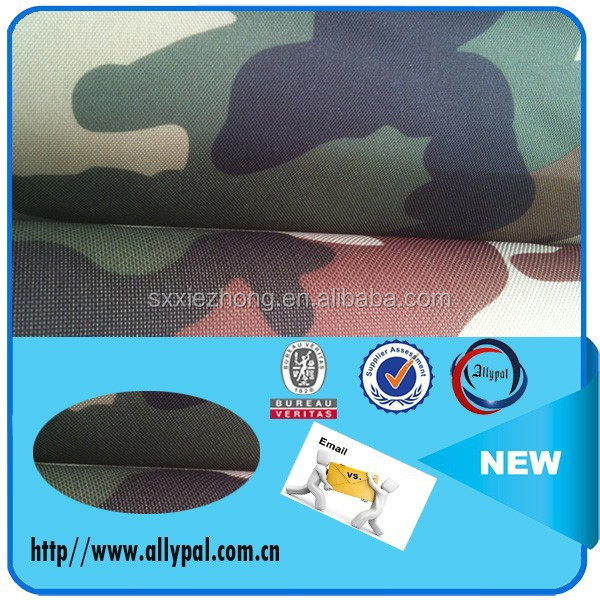 600D waterproof military print Woodland camouflage fabric