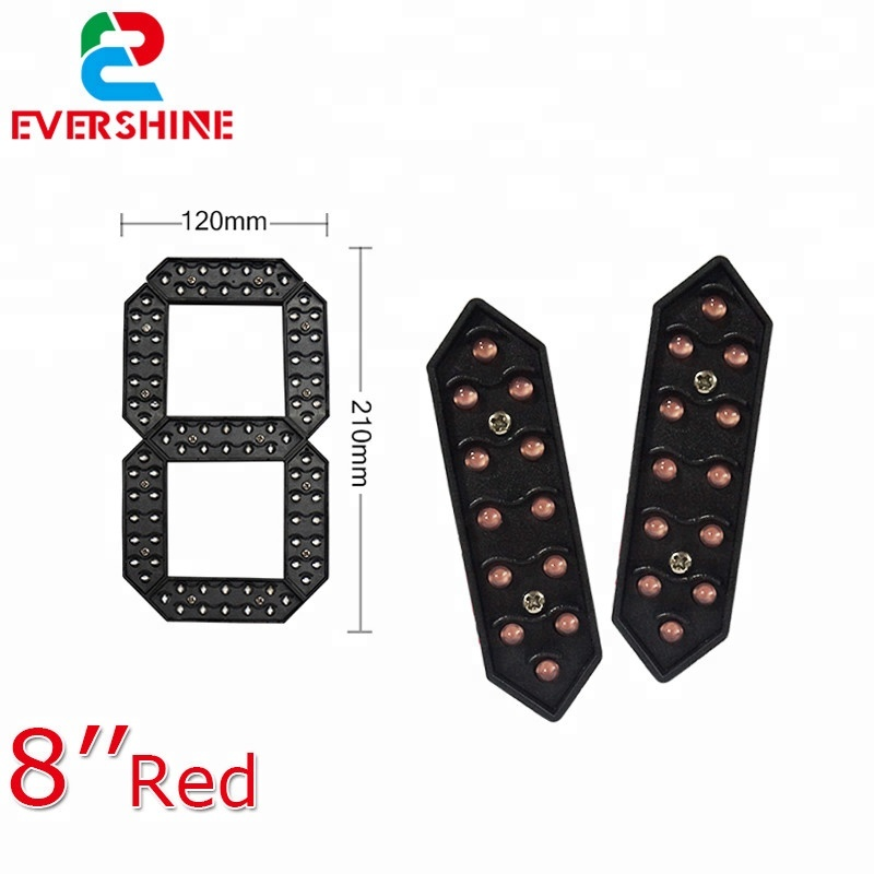 Evershine 8 Inch Red Color Digital Numbers Module 7 Segment <strong>LED</strong> <strong>Display</strong> For Oil Price <strong>LED</strong> Signs <strong>LED</strong> Gas Price Remote Control