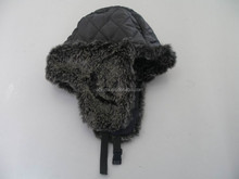 Customize fashion mens Winter fur hat with earflap / winter hat factory cheap price