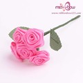 5pcs pink satin ribbon bridal bouquets