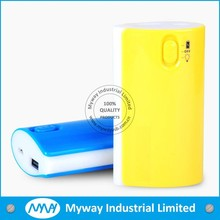 funny designed universal portable phone charger power bank with LED flash power