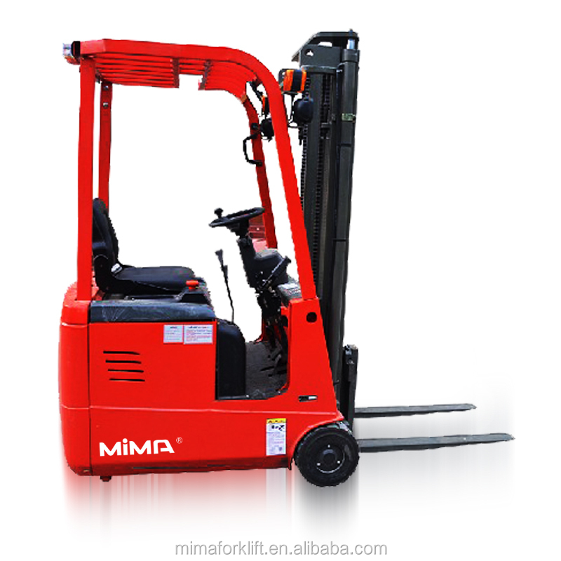 electric 3 support forklift with duplex mast and triplex free mast optional