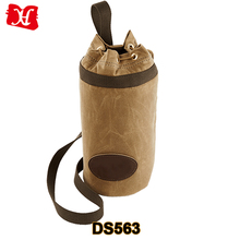 Wholesale Beer Bottle Holder Waxed Canvas Tote Wine Bag With Handle