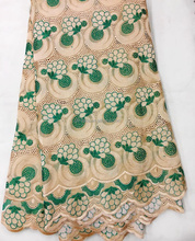 Wholesale high quality big heavy indian voile fabric swiss lace J798-3