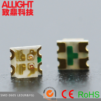 common cathode smd 0605 rgb led 0605 bicolor SMT led red&yellow green