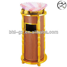 Luxury decorative recycling bins for hotels, painted metal dustbin, large garbage bins for sale GPX-106A