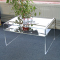 Safe Delivery Living Room Furniture Transparent Plexiglass Coffee Table