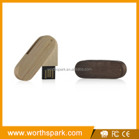 engraving logo wood usb flash drive