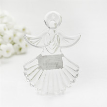 Shiny clear glass angel hanging ornaments home decoration glass angel figurine