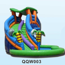 Children and adult outdoor garden inflatable water playground equipment slide for fun