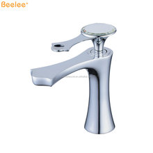 Beelee BL6076 Sanitary Ware Polished Chrome Single Handle Royal Faucet for the Bathroom, Wash Basin Taps, Wash Basin Faucet