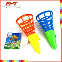 Hot selling kids plastic throw and catch ball game toy set