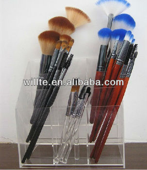 Simple clear acrylic eyeliner brush display holder box