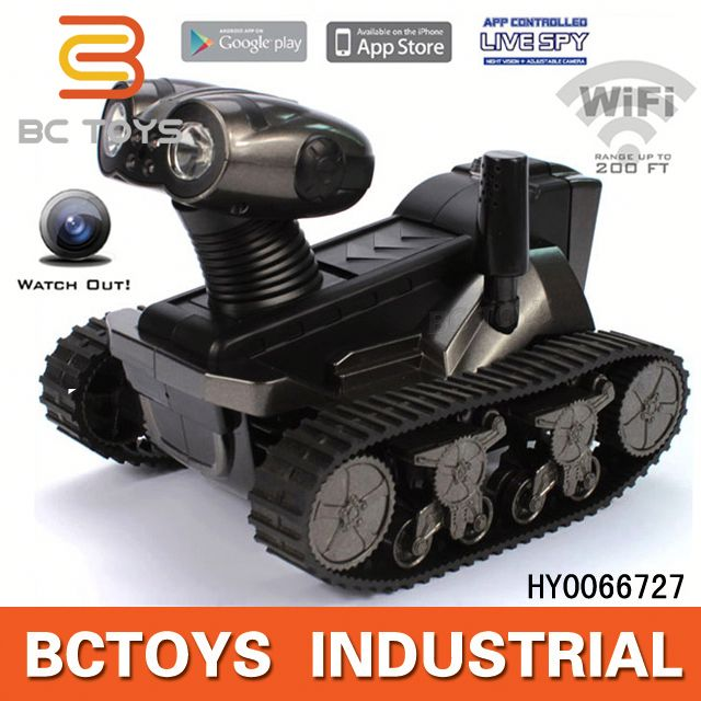 HOT! Iphone Android control spy rc tank with wifi camera android car pc tablet car dvd gps with 3g wifi HY0066727