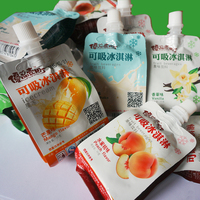 high quality plastic juice drink beverag pouch with spout packaging bag