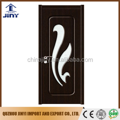 The most popular Interior pvc mdf glass door model made in china jiangshan