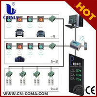 lcd display smart parking sensor system guidance system