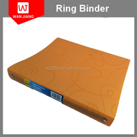Colorful A4 Plastic PP Presentation 1 inch 3 ring binders file folders