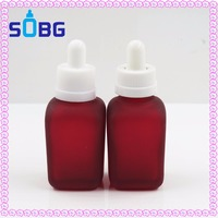 red french square frosted glass e liquid 30ml dropper bottle perfume 1oz glass bottle
