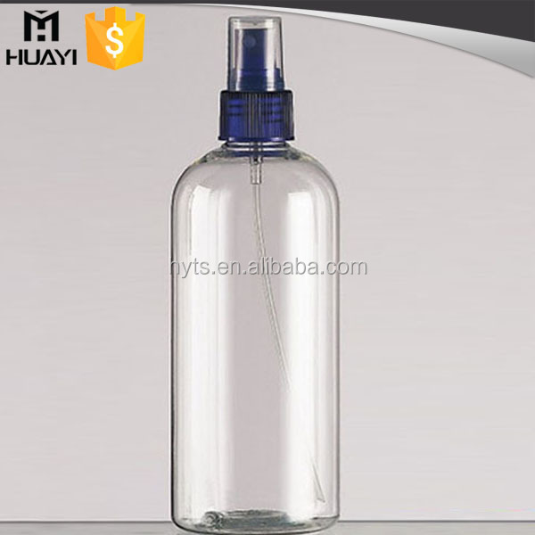 empty clear silk screen bottles cosmetic pet with sprayer for toning lotion