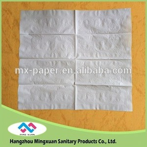 embroidered 36*42 1/8fold 2ply 19gsm white color disposable dinner napkin