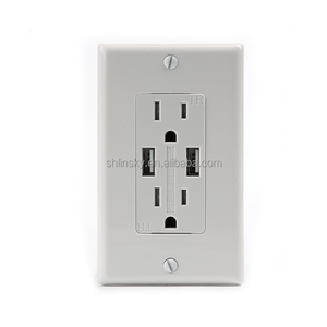 USB charge USA standard 15A usb all outlet ,4.2A output wall usb socket