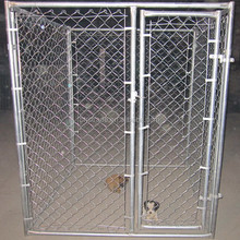 Galvanized temporary dog run fence panels