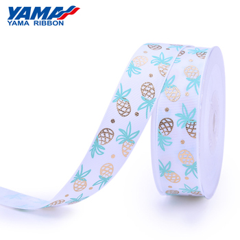 YAMA printed crafts custom satin grosgrain hot stamping foil ribbon