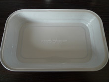 Best selling best price rectangular smooth wall aluminum foil container for airline use
