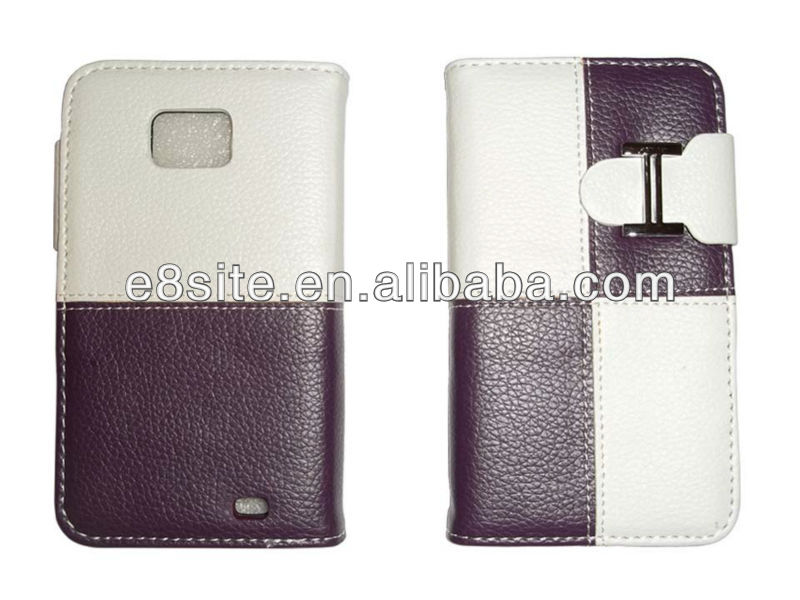 Custom Wallet Leather Cover For SamSung i9100 Galaxy S2