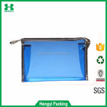 Cheap wholesale recycled waterproof clear vinyl travel cosmetic bag/transparent pvc zipper wash bag