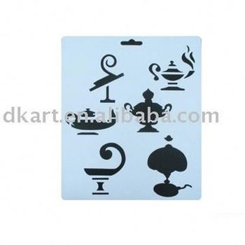 Laser cutting hollow out stencils template for craft/painting/drawing on wall/wood/glass/furniture