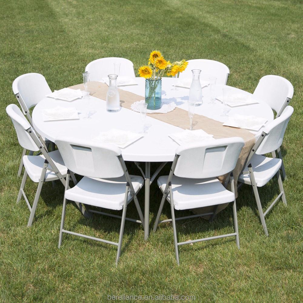 Model Furniture Design Plastic Round Folding Buffet Table Buy
