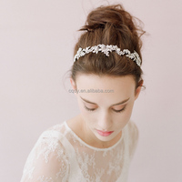 2016 Smart Design Alloy and Peal Flower Wedding Hairgrips Princess forehead Hair band Party Hair Accessories