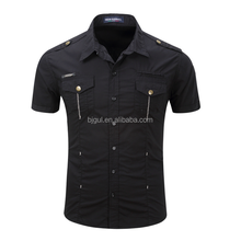Casual men 's short - sleeved dressing shirt