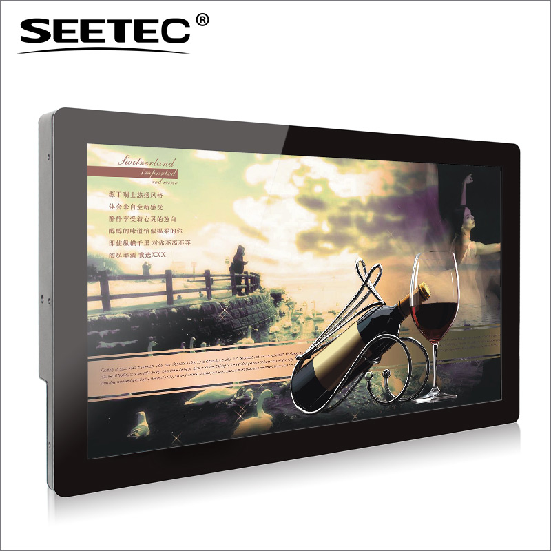 SEETEC HDMI VGA advertisement media player 21.5 inch full HD industrial screen with capacitive touchscreen