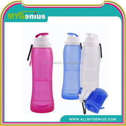 portable sport folding filter water bottle ,Y103, collapsible silicone folding bottle wholesale