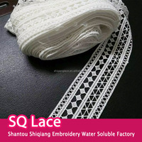 Promotion polyester lace embroidered lace trim