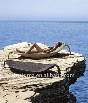 2015 Hot sale customized coffee color PE leaf shape cheap sun loungers
