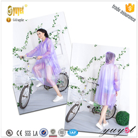 premotional colorful long PVC rain poncho for motorcycle