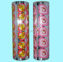 High quality fruit jelly cup lidding film/sealing film for jelly