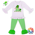 New Baby Girls First St' Patrick Outfits And Long Pants Holiday Party Costume