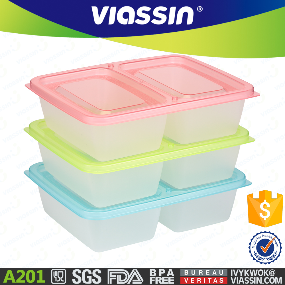 A201 high quality food grade plastic food container set 750mlx2