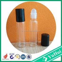 RB-01 Yuyao Yuhui Commodity non spill wholesale 10ml essential oil bottle glass roll on bottle