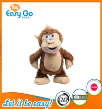 good sale high quality customized production monkey with mechanism movement toy plush toy