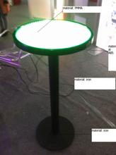 Edgelight unique RGB round bar table aluminum led rechargeable lights