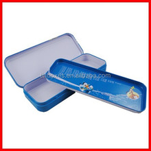 with inner tray hot printed colored pencil metal tin boxes