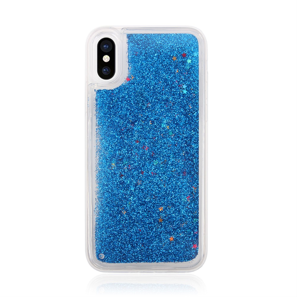 Fashion Shockproof TPU Case Phone Cover for iPhone X, Transparent Clear Bling Bling Phone Accessories Mobile Case for iPhone X